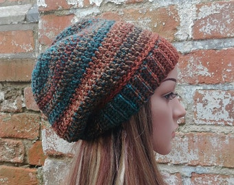 Colorful crochet beanie , Women's  beanie hat . Winter beanie . Crochet hat .