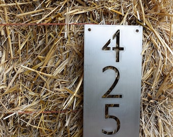 Metal Vertical Home Address Sign | Personalized House Number Plaque | Address Plaque | Mailbox Sign | Metal House Numbers |Number Plaque