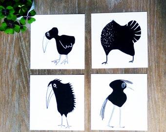 Zwart wit vogels