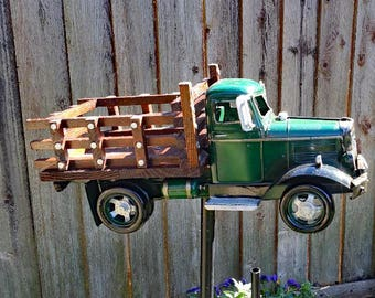 Yard Art Old work truck