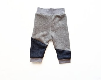 Boys Navy & Gray Joggers, French Terry Joggers, Grey Boys Pants, Navy Joggers, Kids Joggers, Boys Joggers, Sweatpants for Baby and Toddler