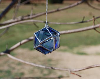 You Pick The Color - Fun 3D Stained Glass Bevel Ornament - Orb