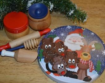 Pretend Baking Mini Set Montessori Inspired Food Kitchen Accessories Christmas Baking Set