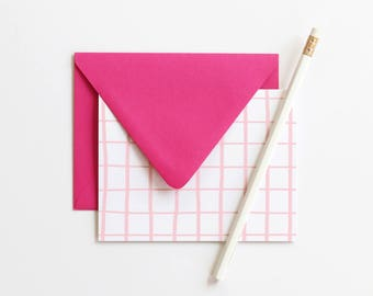 Blank Stationary Set Thank You Notes Pink Cards Colorful Stationery Bridesmaid Gift Blank Greeting Cards Wedding Note Cards Girls Stationary