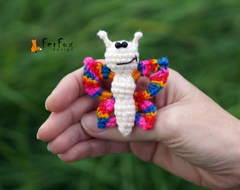 Butterfly brooch Moth insect pin Summer jewelry Butterfly pin Fashion accessory Kids jewelry Insect brooch Funny brooch Summer accessory