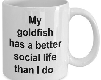 Goldfish coffee mug gift