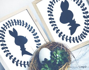 Mr. & Mrs. Bunny Silhouette