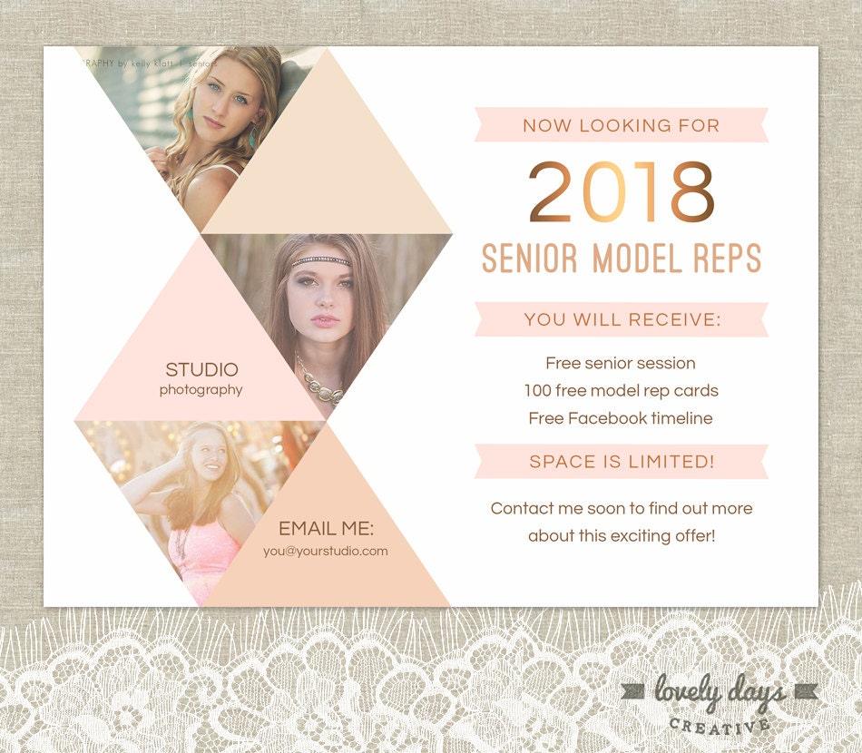 Senior Photography Marketing Senior Rep Template INSTANT