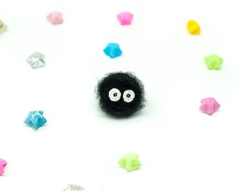 Soot Sprite / Spirit / Studio Ghibli / Crochet / Amigurumi / Plushie / Miniature / Spirited Away / My Neighbor Totoro / Doll / READY TO SHIP