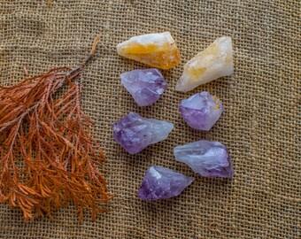 Citrine and Amethyst -----------------------crystals