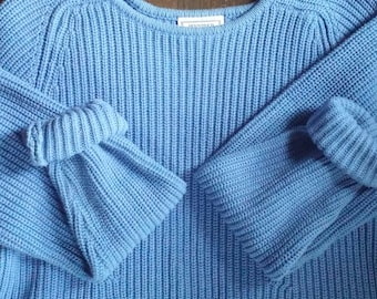 90s Blue Chunky Knit Sweater