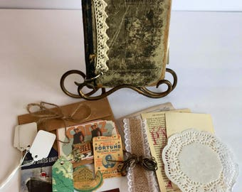 Handmade Vintage Journal Junk Journal Diary Rustic Antique