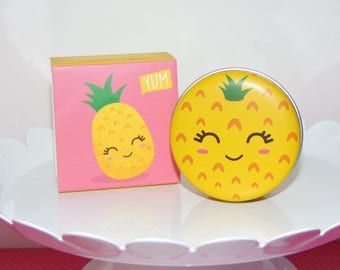 Super Cute Yummy Pineapple Flavored Lip Balm Tin