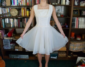 White Polka-dot 50's Vintage Dress