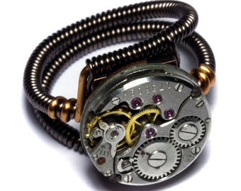 Steampunk Ring Statement Ring Custom Made Steampunk Jewelry
