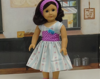 Spring Breeze - Sleeveless Dress for American Girl