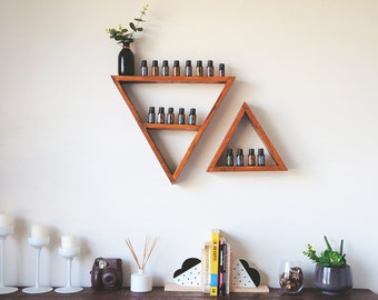 Essential Oil Storage - Essential Oil Shelf Organizer Essential Oil holder Aromatherapy oil display Pallet Wood Shelf Reclaimed Wood Shelf