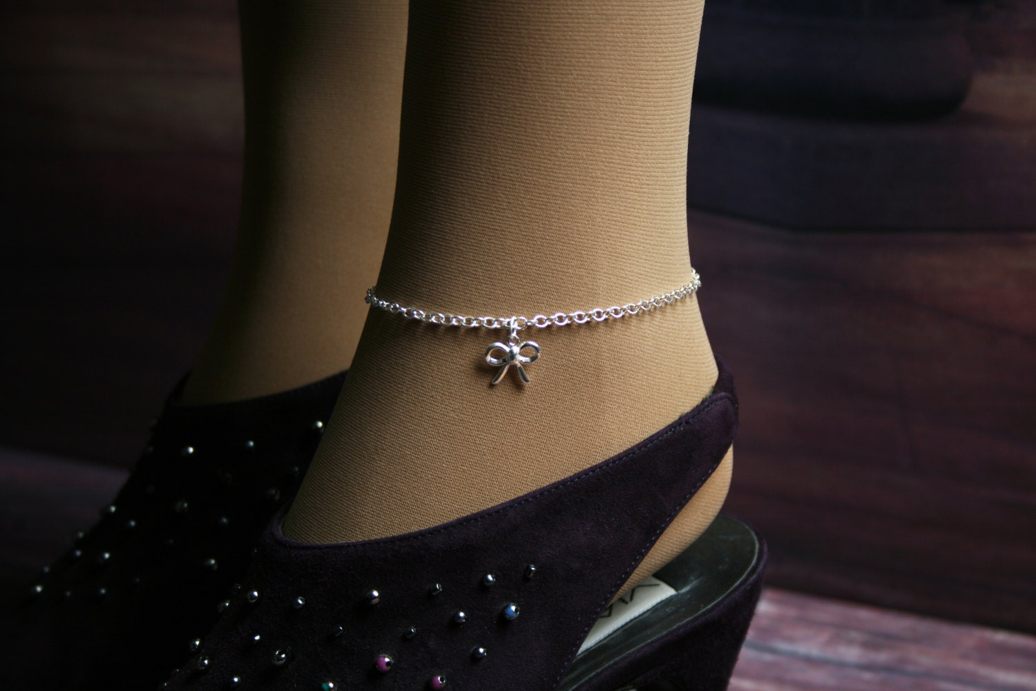 edit coexista product gold anklet locking burgundy