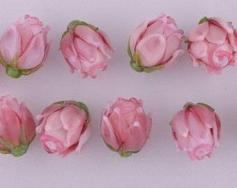 Pink Rubi Glass Rosebud