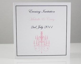Chandelier Wedding Invitations with Border