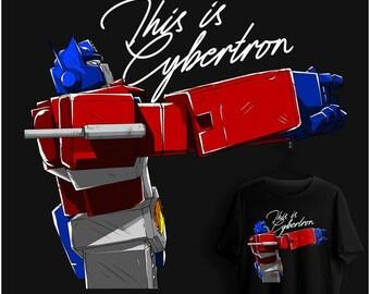 042--c'est Cybertron--transformateurs inspiré chemise--S-6XL