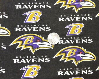 Fabric BTY  Ravens Football Fabric