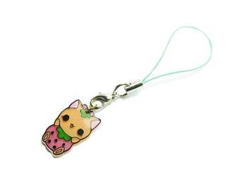 Keyring: Cute Raspberry Cat