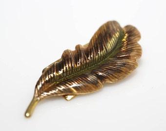Copper Colored Feather Barrette