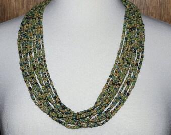 Earth Tones Multi-Strand Necklace