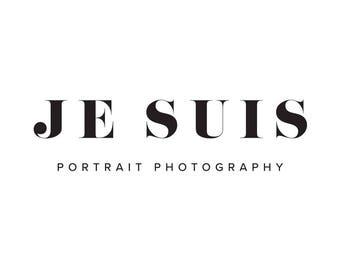 Premade Logo Design | 'Je Suis' | Minimal Logo | Photography Logo | Blog Logo | Business Branding | Branding Design | Calligraphy logo