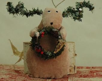 Folk Art Reindeer (V-REINDEER-WREATH/STAR)