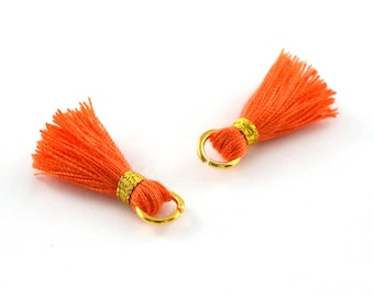 Small PomPoms 2 set of 2 cm / Orange PO125 FM