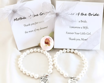 Mother of the Bride Pearl Bracelet, Mother of the Groom bracelet, mother of the bride gift idea, gift for mom, mom bracelet