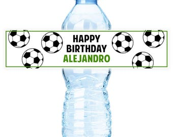 Soccer #Party Water #Bottle #Labels