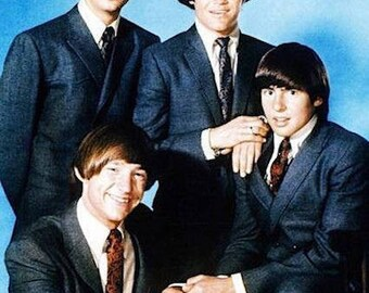 Vintage 1960s The Monkees  in Suits Color Photograph— More Celebrity Photos available Too