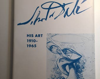 Salvador Dali His Art 1910-1965 1965 Exhibition Catalog Softcover