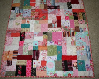 Custom Made Memory Quilts - bring your memories out of a box or closet - from your special baby clothes that you can't give or throw away