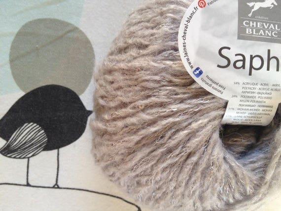 WOOL flannel - horse white Sapphire