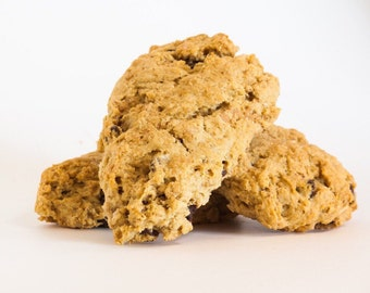 Oatmeal Peanut Butter Chocolate Chip Scones - 12 scones