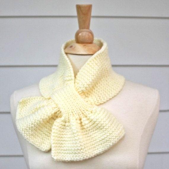 cream knit scarf ivory keyhole scarf white knit cowl knit