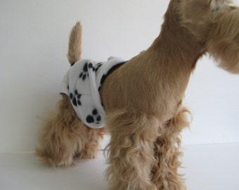 POOCHIE PANTZ paw print female dog diaper, custom made, all sizes