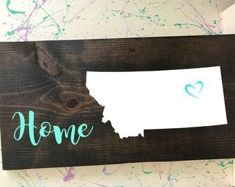 Montana Home Plaque