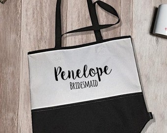 Penelope Bridesmaid Encore Tote Bag | Bridesmaid Tote Bag | Bridesmaid Totes | Bridal Party Tote Bags | Bachelorette Party Accessories