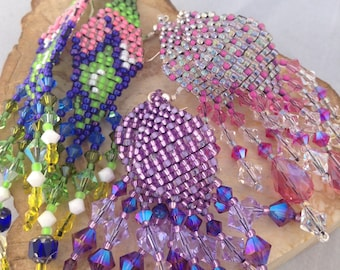 BED17.031-036 | Bedowin Beaded Earrings - Lace Line