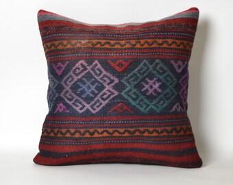 rug, cushion, turkish kilim, home decor pillow, kilim cushion cover, kilim pillow covers, sofa decor pillow, wool, vintage cushion