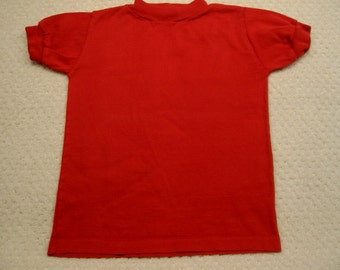 Vintage red short sleeved Buster Brown tee shirt . . .  size  5 . . .  from the 1960's .  . .excellent condition . . . Made in the USA