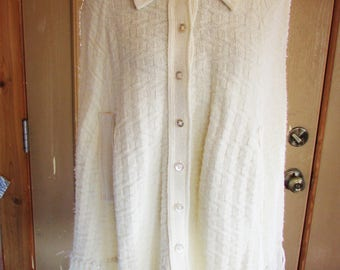 Vintage 1960's 1970's Cape Knit Sweater