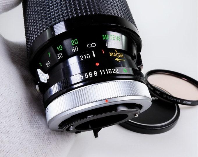 Vivitar Series 1 Canon FD Mount 70-210mm f3.5 Zoom Lens - Macro Close-Focusing Automatic Lens - Includes Metal Front Lens Cap & 1A Filter