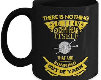 Knitting Coffee Mug, Gifts For Knitters, Knitting Humor