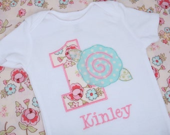 Shabby Chic Birthday Shirt - Girls Birthday Shirt - Girls Birthday Bodysuit - First Birthday Shirt - Shabby Rose